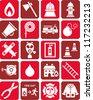Fireman icons - stock vector