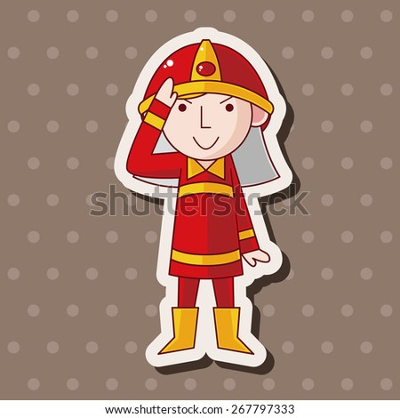 fireman theme elements - stock vector