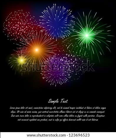 Firework - stock vector
