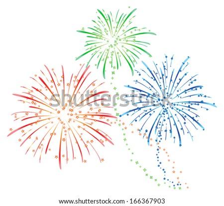 Fireworks - stock vector