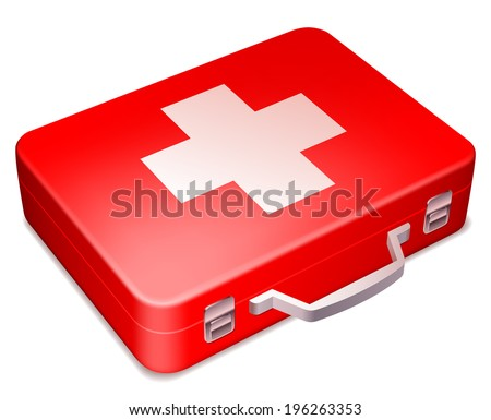 First aid kit. - stock vector