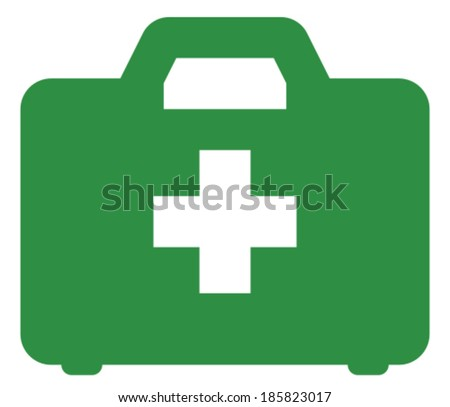 First aid kit vector icon - stock vector