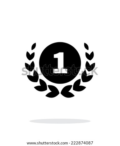 First place medal icon on white background. Vector illustration. - stock vector