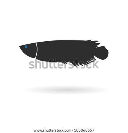 Fish icon - stock vector