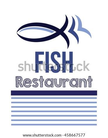 fish menu for restaurant - stock vector