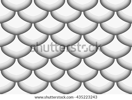 Fish Scales seamless pattern - stock vector