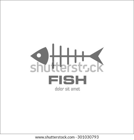Fish symbol - stock vector