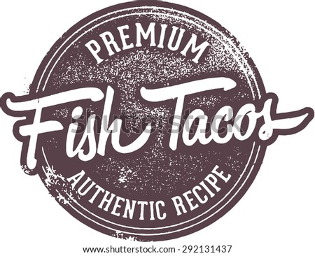 Fish taco vintage menu sign stock vector for Fish 101 menu