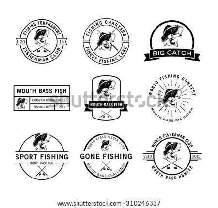 Fisher label badge - stock vector