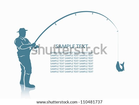 Fisherman background - vector illustration - stock vector
