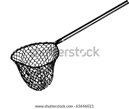 Fishing Net 2 - Retro Clipart Illustration - stock vector