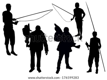 Fishing set - stock vector