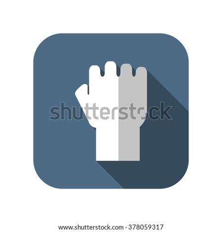 fist flat vector icon - stock vector
