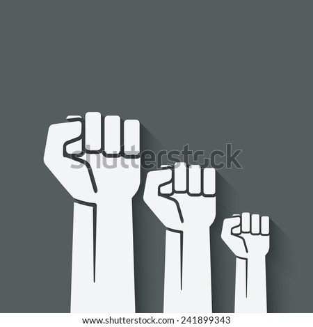 fist independence symbol- vector illustration. eps 10 - stock vector