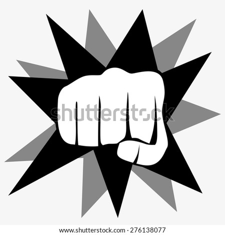 Fist isolated on white background, vector illustration - stock vector