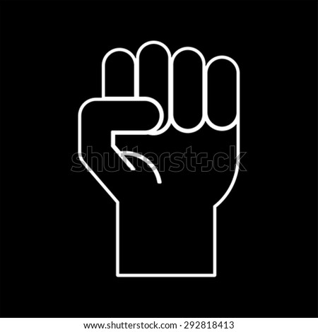 fist symbol, vector - stock vector