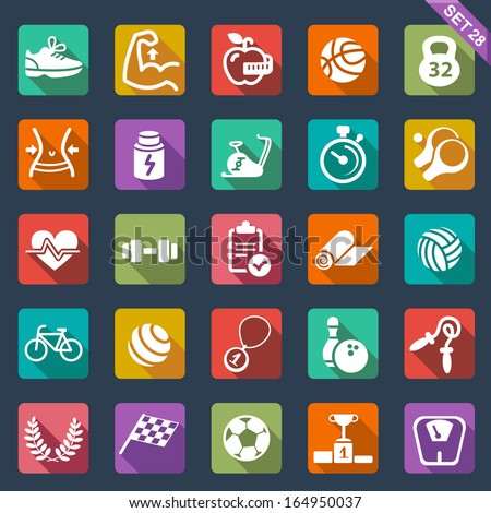 Fitness and sport icons - stock vector