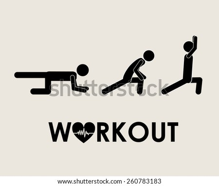 Fitness and Workout design, vector illustration - stock vector