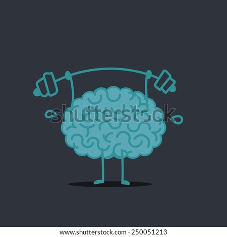 fitness brain - stock vector