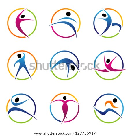 fitness globe elements. Graphic Design Editable For Your Design. - stock vector