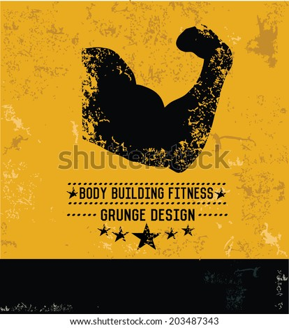 Fitness gym design,grunge vector - stock vector
