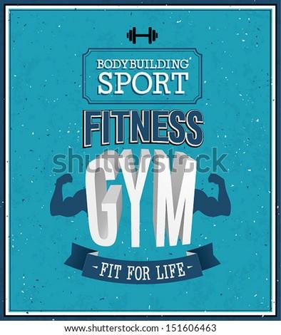 Fitness gym design. Vector illustration. - stock vector