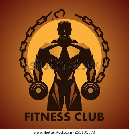 Fitness logo - stock vector