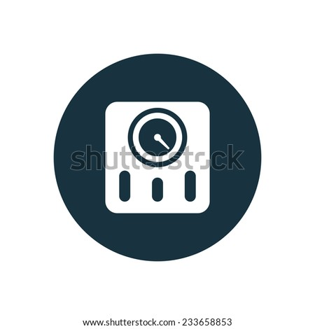 fitness scales icon on white background  - stock vector
