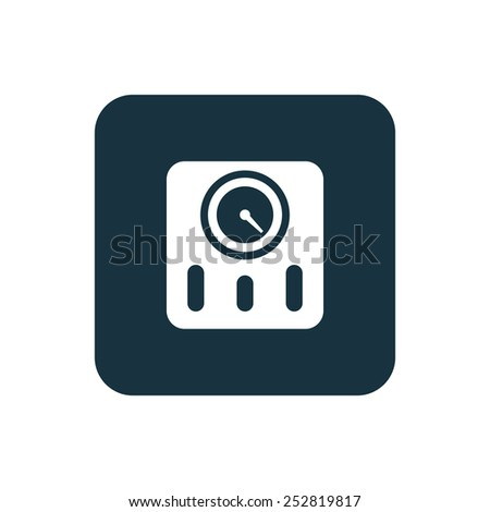 fitness scales icon Rounded squares button, on white background  - stock vector