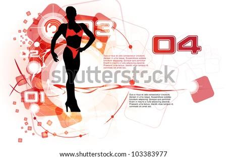 Fitness woman - stock vector