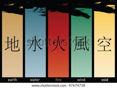 five elements - stock vector