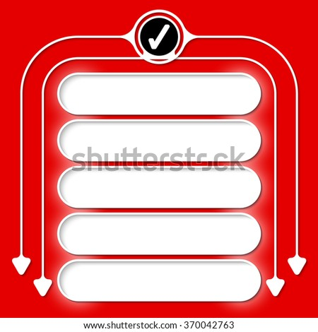 Five frames for your text and check box - stock vector