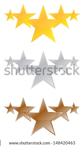 Five Stars Quality Product - stock vector