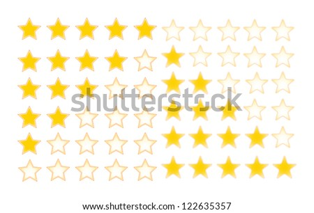 Five stars rating - stock vector