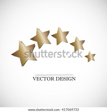 Five stars. Vector icon - stock vector