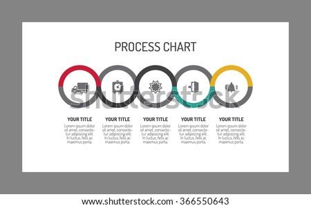 Five-step process chart. Business process chart. Process chart infographic. Process chart infographic art. Process chart infographic concept. Process chart illustration. Process chart infographic web. - stock vector