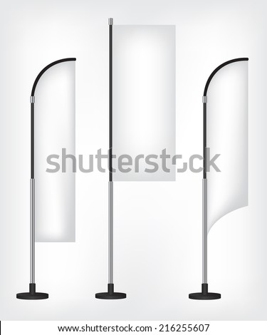 Flag banner stand - stock vector