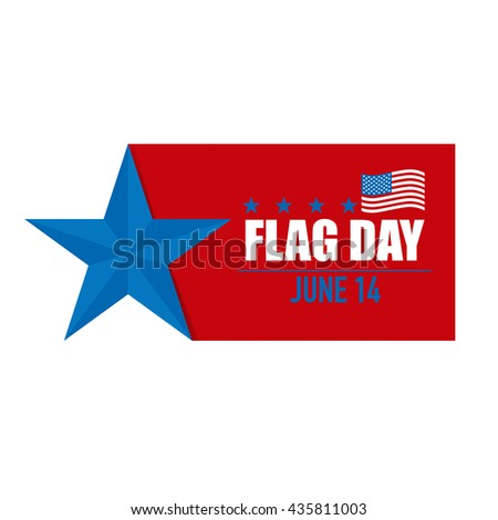 Flag day. 14 of June. Vector illustration. - stock vector