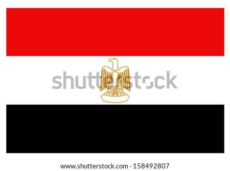 Flag egypt - stock vector