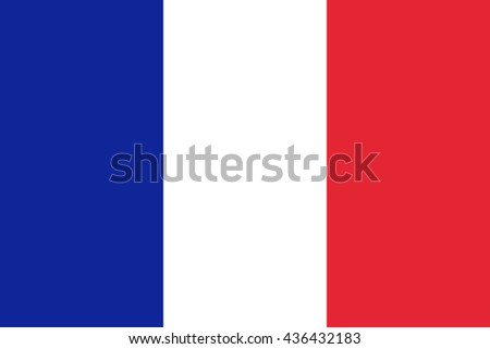 Flag France Original Vector - stock vector