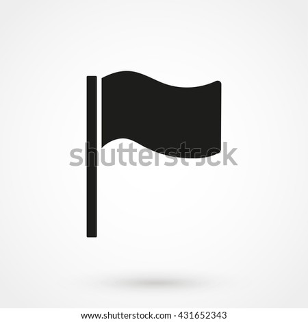 Flag Icon isolated on background. Modern flat pictogram, business, marketing, internet concept. Trendy Simple vector symbol for web site design or button to mobile app. Logo illustration - stock vector