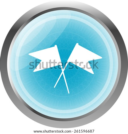 flag icon, web design element isolated on white - stock vector