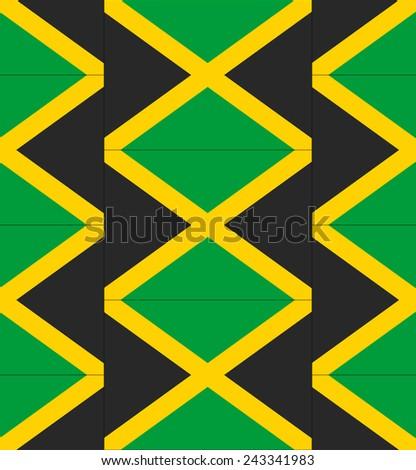 Flag Jamaica texture vector illustration  - stock vector