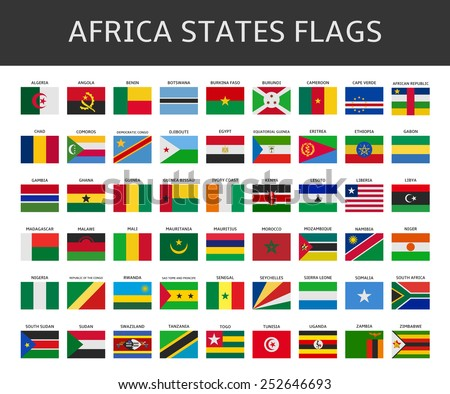flag of africa states vector set - stock vector