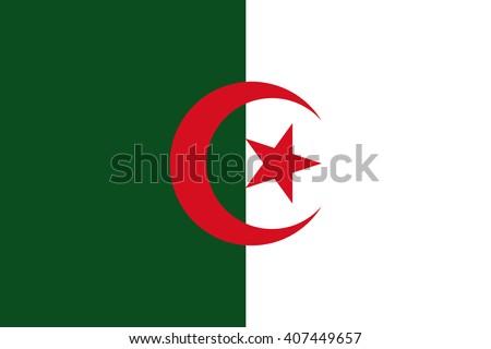 Flag of Algeria - stock vector