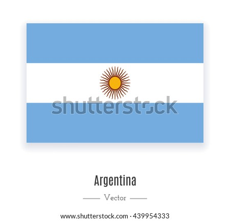 Flag of Argentina. Flag of Argentina vector. Flag of Argentina isolated. Flag of Argentina eps. Flag of Argentina illustration. Flag of Argentina icon. Flag of Argentina ui. Flag of Argentina web. - stock vector