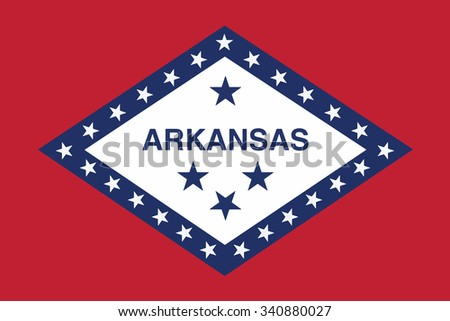 Flag of Arkansas state of the United States. Vector illustration. - stock vector