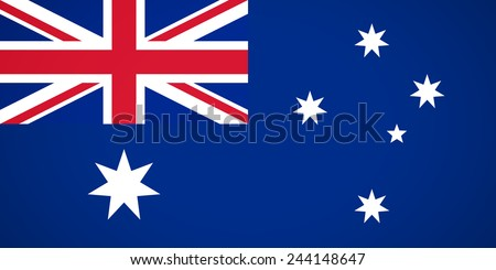 Flag of Australia flat icon for your business presentations. vector illustration - stock vector
