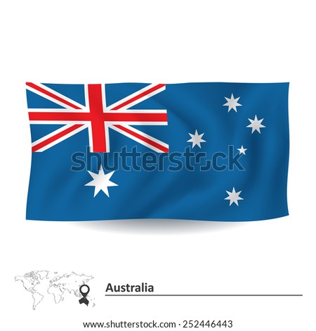 Flag of Australia - vector illustration - stock vector