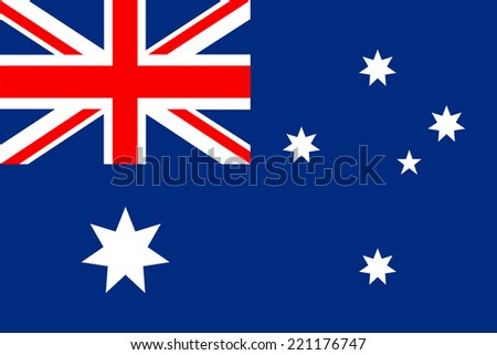 Flag of  Australia vector in eps10 - stock vector